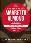 Amaretto Flavoured Decaffeinated Coffee Beans