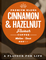 Cinnamon & Hazelnut Flavoured Coffee Beans