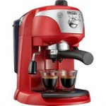 DELONGHI - Motivo Espresso Machine in Red and Silver