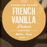 French Vanilla Flavoured Coffee Beans