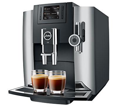 JURA E8 Bean to Cup Coffee Machine in Chrome