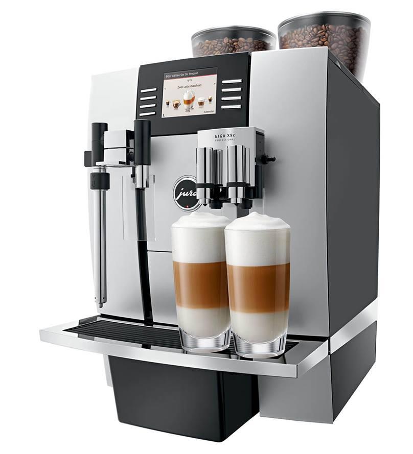 JURA GIGA X9C Professional Bean to Cup Machine in Aluminium