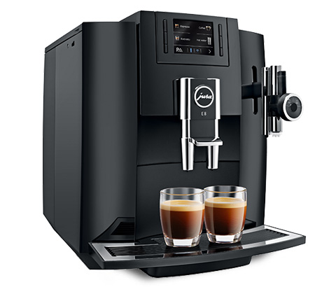 Jura E8 Bean to Cup Black