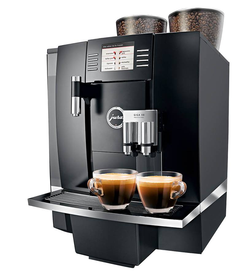 JURA GIGA X8 Professional Bean to Cup Machine in Aluminium/Black