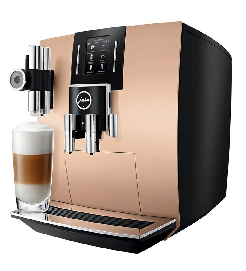 Jura J6 Bean To Cup Coffee Machine In Sunset Gold More Than Coffee
