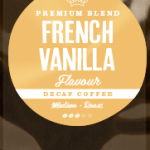 French Vanilla Flavoured Coffee DECAFFEINATED